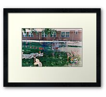 Children in motion Framed Print