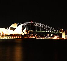 Sydney Harbour Bridge & Opera House at Night by blackadder