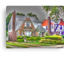 Beautiful colorful little houses-another version Canvas Print