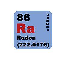 Periodic Table of Elements: No. 86 Radon Photographic Print
