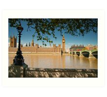 Houses of Parliament from the Southbank: London, UK Art Print