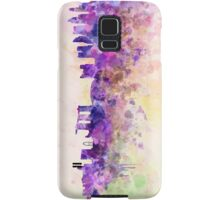 Singapore skyline in watercolor background Samsung Galaxy Case/Skin