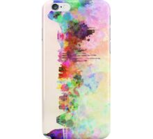 Rio de Janeiro skyline in watercolor background iPhone Case/Skin