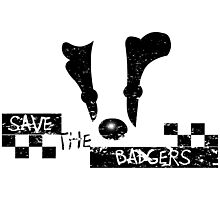 Save the Badgers Photographic Print