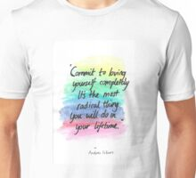 Commit to loving yourself completely Unisex T-Shirt