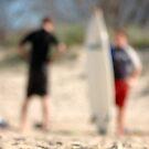 SURFERS IN WINTER © by Vicki Ferrari