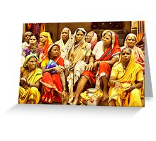 Waari - The colors of India Greeting Card