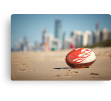 Gold Coast Genuine Dragon Egg - Surfers Beach Football © Vicki Ferrari Photography Canvas Print