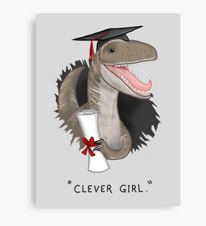 """""""Clever Girl"""" Canvas Print"""