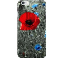 Red and Blue Flowers iPhone Case/Skin