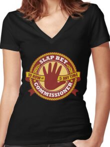 Slap Bet Commissioner Women's Fitted V-Neck T-Shirt