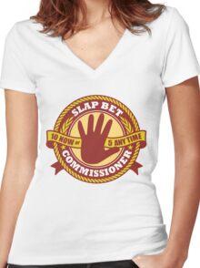Slap Bet Commissioner Women's Fitted V-Neck T-Shirt