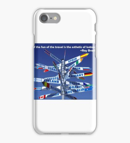 Travel fun vacations countries  iPhone Case/Skin