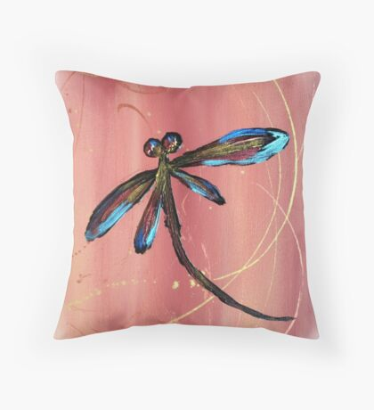 Dragonfly Sunset Throw Pillow
