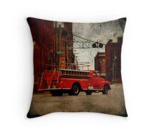 Union Avenue Firetruck Throw Pillow