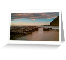 sunset at garie Greeting Card