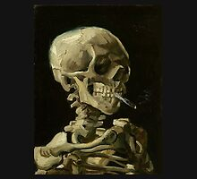 Van Gogh - Skull of a Skeleton with Burning Cigarette by Aconissa