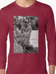 Glowing Green Eyes  Long Sleeve T-Shirt
