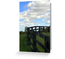 Fence and Sky Greeting Card