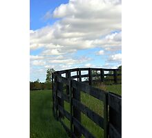 Fence and Sky Photographic Print