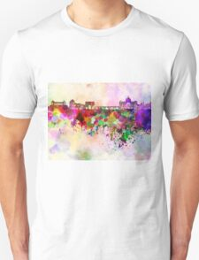 Rome skyline in watercolor background T-Shirt