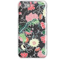 Pastel preppy hand drawn garden flowers chalkboard iPhone Case/Skin