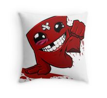 Funny Super Meat Boy Throw Pillow