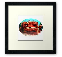 Angry Super Meat Boy Framed Print
