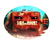 Angry Super Meat Boy Photographic Print