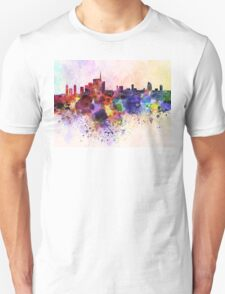 Milan skyline in watercolor background T-Shirt