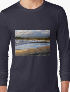 Beach Fun At Dusk On Isabela In The Galapagos Long Sleeve T-Shirt