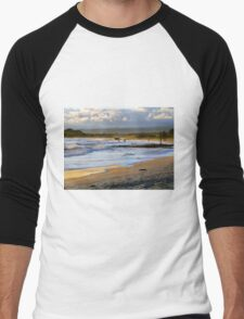 Beach Fun At Dusk On Isabela In The Galapagos Men's Baseball ¾ T-Shirt