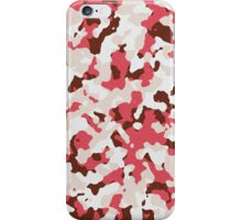 Red camouflage pattern iPhone Case/Skin