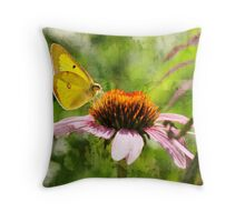 Texturized butterfly Throw Pillow