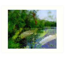 Lake in Deep Summer  Art Print
