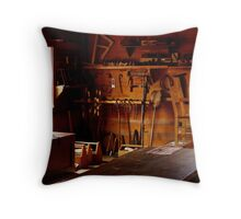 Sunlight and Sawdust Throw Pillow