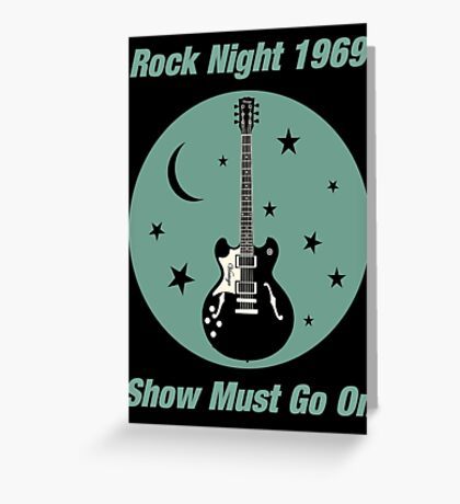 Rock Night 1969 Greeting Card