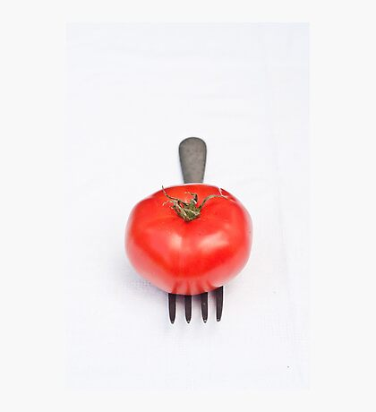 Tomato and Fork Photographic Print
