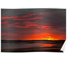 Sunset over Rhosneigr Poster