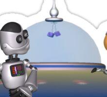My Best Friend .. a robots tale Sticker