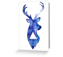 Stag Watercolour  Greeting Card