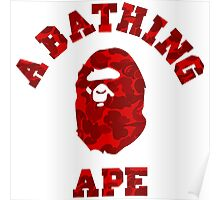 A BATHING APE (RED CAMO) Poster