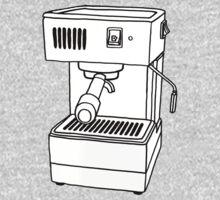 Espresso Machine Doodle Baby Tee