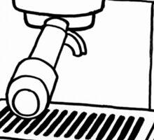 Espresso Machine Doodle Sticker