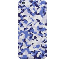 Blue camouflage pattern iPhone Case/Skin