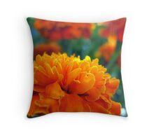 Marigolds in the Garden Throw Pillow