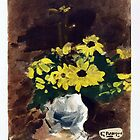 Vase of Yellow Flowers, 1960 by Georges Braque by masterworks