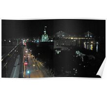 Savannah Historic District at Night Poster