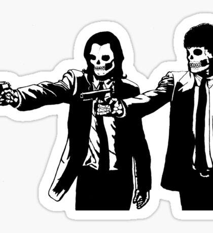Vincent & Jules Skull Art Sticker