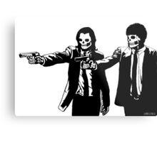 Vincent & Jules Skull Art Metal Print